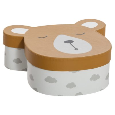 Lot de 3 boîtes de rangement ourson Atmosphera for kids