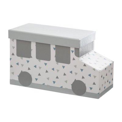 Lot de 3 boîtes en carton voiture grise Atmosphera for kids