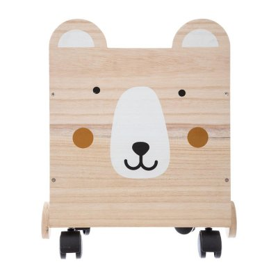 Coffre en bois à roulettes ourson Atmosphera for kids