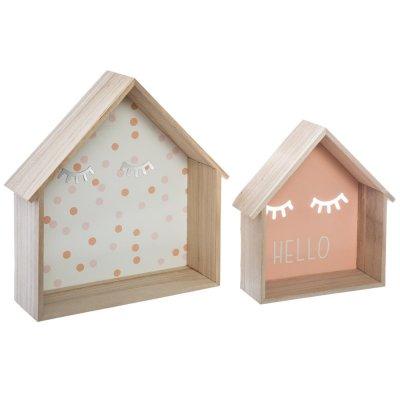 Lot de 2 petites étagères forme maison Atmosphera for kids