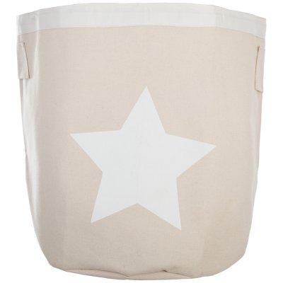 Bac de rangement canvas étoile blanc Atmosphera for kids
