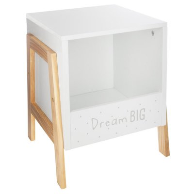 Rangement casier bas blanc et bois Atmosphera for kids