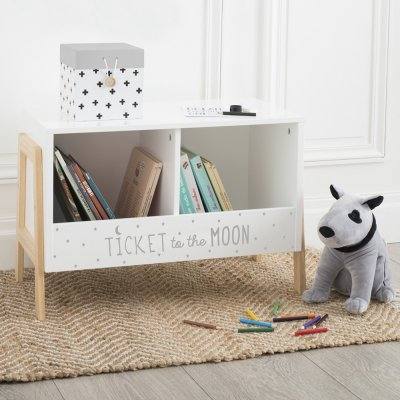 Rangement casier bas double blanc et bois Atmosphera for kids