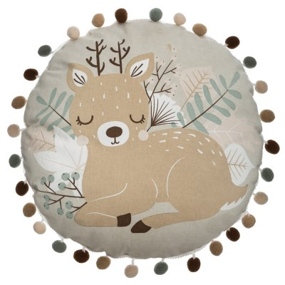 Coussin rond biche Atmosphera for kids