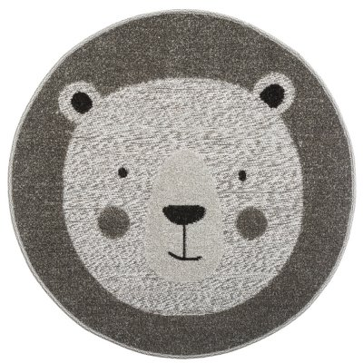 Tapis de chambre animal rond gris Atmosphera for kids