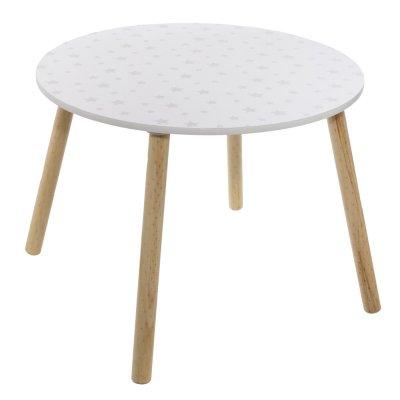 Petite table douceur blanc et étoiles grises Atmosphera for kids