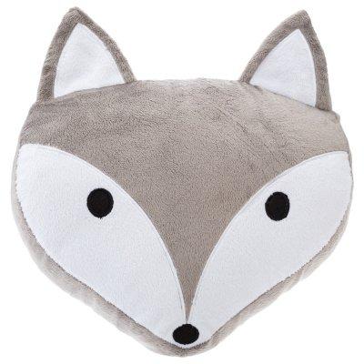 Coussin tête de renard gris Atmosphera for kids
