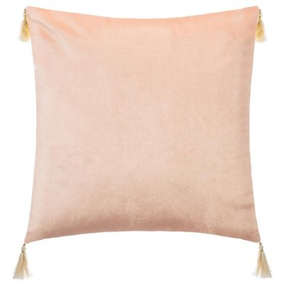 Coussin couronne pompon 40x40cm rose Atmosphera for kids