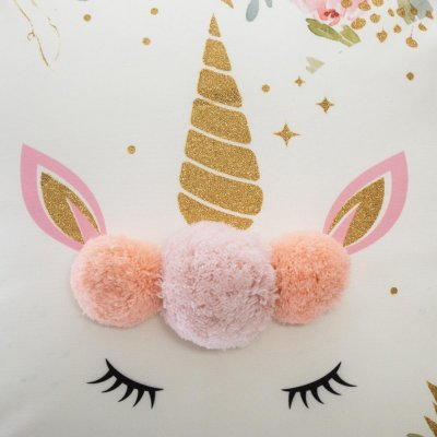 Coussin licorne pompons Atmosphera for kids