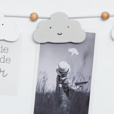 Pêle-même rectangulaire nuage gris Atmosphera for kids