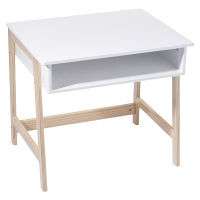 Bureau bois et blanc Atmosphera for kids