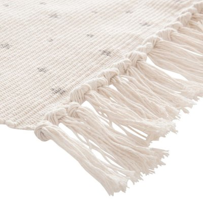 Tapis de chambre a franges naturel 60x90cm Atmosphera for kids