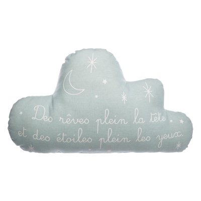Coussin nuage gris phosphorescent Atmosphera for kids