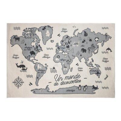 Tapis de chambre carte de monde 100x150xm Atmosphera for kids