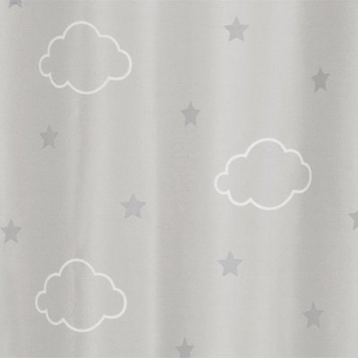 Rideau occultant phosphorescent gris Atmosphera for kids
