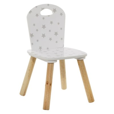 Chaise douceur blanc étoiles grises Atmosphera for kids