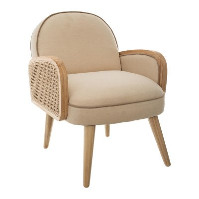 Fauteuil canage beige Atmosphera for kids