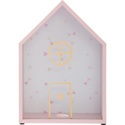 Tirelire forme maison rose Atmosphera for kids
