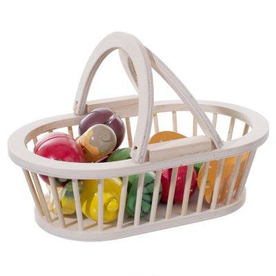 Jouet en bois bébé panier de fruits et légumes en bois Atmosphera for kids