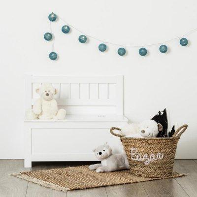 Coffre à jouet banc blanc uni Atmosphera for kids
