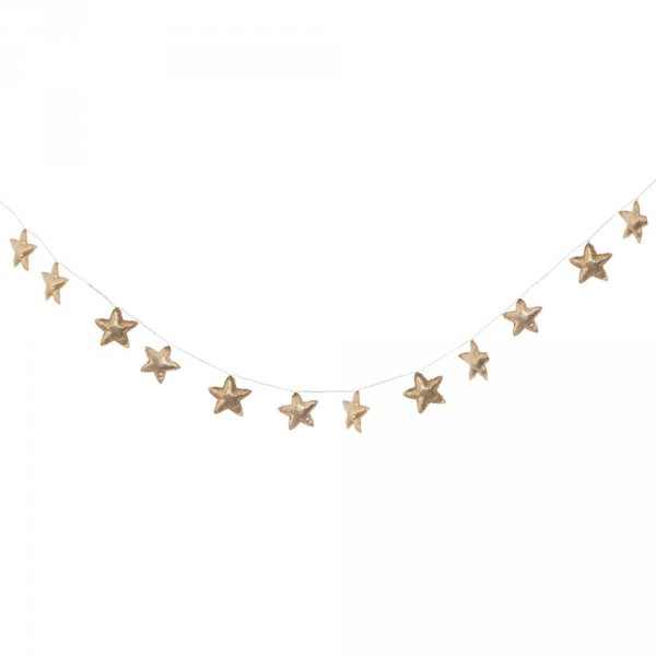 Guirlande étoiles dorées