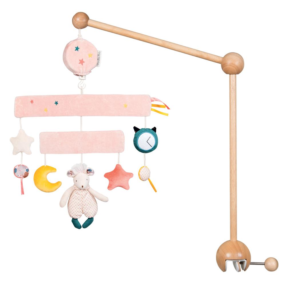 mobile b b musical il tait une fois de moulin roty sur allob b. Black Bedroom Furniture Sets. Home Design Ideas