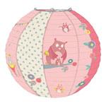 Suspension bébé lanterne en papier mademoiselle et ribambelle