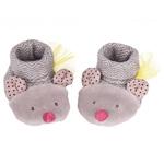 Chaussons bébé souris gris les pachats pas cher