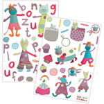Stickers deco jolis pas beaux  de Moulin roty