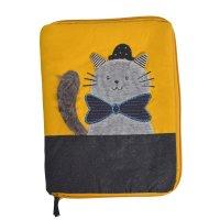 Protège carnet de santé chat gris les moustaches