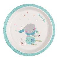 Assiette bébé bleue les jolis trop beaux