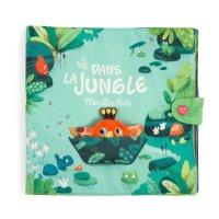 Jouet d'éveil bébé grand livre d'activités en tissus dans la jungle