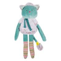 Doudou poupée chat bleu les pachats