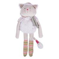 Doudou poupée chat gris les pachats