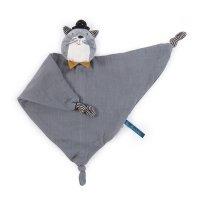 Doudou lange chat gris clair les moustaches