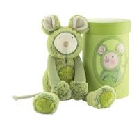 Peluche bébé souris vert les zazous