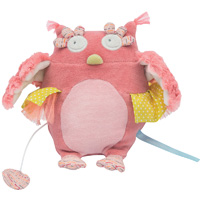 Peluche musicale chouette mademoiselle et ribambelle
