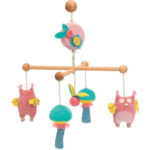 Mobile bébé musical mademoiselle et ribambelle