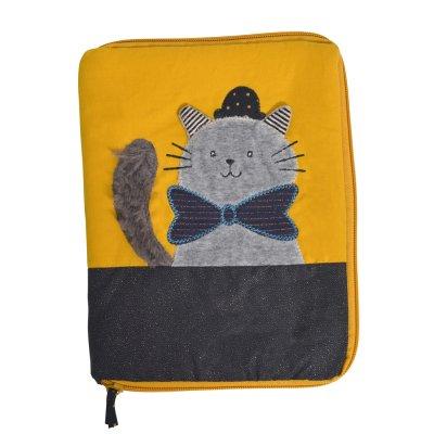 Protège carnet de santé chat gris les moustaches Moulin roty