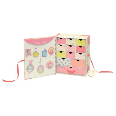 Coffret naissance mademoiselle et ribambelle Moulin roty