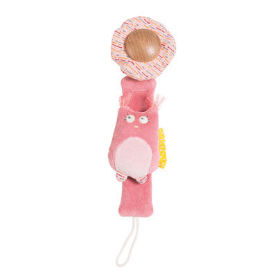 Attache sucette chouette mademoiselle et ribambelle Moulin roty