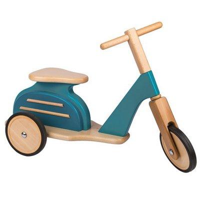 Scooter porteur bleu mémoire d'enfant Moulin roty