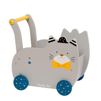 Chariot de marche bébé les moustaches Moulin roty