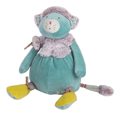 Peluche chat bleu les pachats Moulin roty