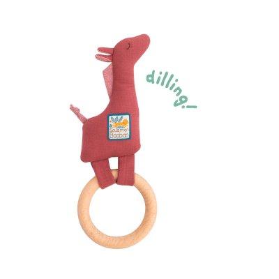 Hochet avec anneau en bois girafe sous mon baobab Moulin roty