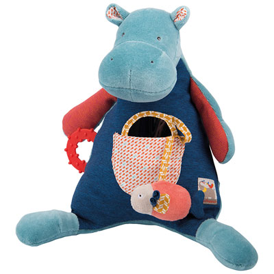 Jouet d'éveil bébé hippopotame d'activités les papoum Moulin roty