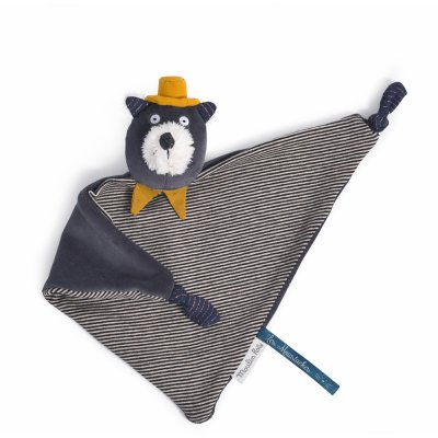 Doudou chat gris alphonse les moustaches Moulin roty
