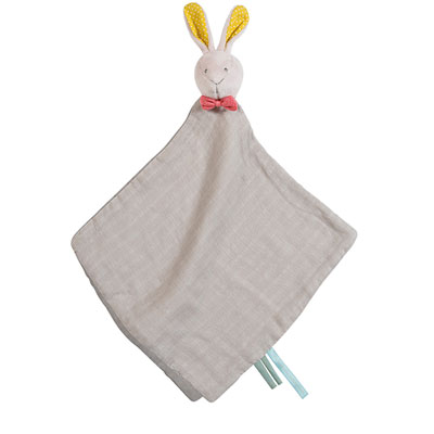 Doudou lange lapin mademoiselle et ribambelle Moulin roty