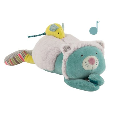 Peluche musicale chat les pachats Moulin roty