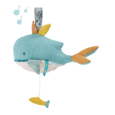 Peluche musicale baleine le voyage d'olga Moulin roty